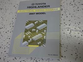 2007 Toyota HIGHLANDER Electrical Wiring Diagram Service Shop Repair Manual EWD - $33.61