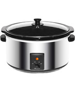 Brentwood 8.0 Quart Slow Cooker Stainless Steel - $60.48
