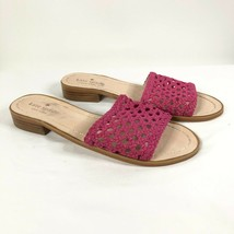 Kate Spade Womens Berlin Sandals Slides Leather Woven Pink Size 6 - $43.53
