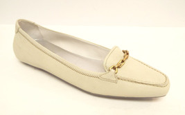 PRADA Size 6 1/2 Ivory Leather Flats Loafers 6.5 Shoes Moccasins 36 1/2 - $84.00