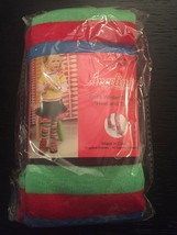 New Girls Tights Large 7-10 Angelina Winter Tights Heel And Toe Stripes - $4.51