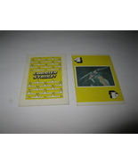 1977 Carrier Strike! Board Game Piece: Yellow Dogfight Card 4 - $1.00