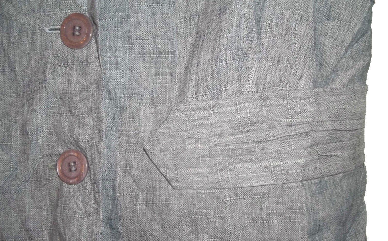Sz 6P -  Sag Harbor Dress Petite Blue Speckled Short Sleeve Career Shirt
