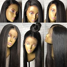360 Lace Frontal Wig Pre plucked Human Hair Wigs 150%-180% Brazilian Vir... - $140.62