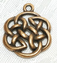 CELTIC FINE PEWTER PENDANT CHARM - 22x28x3mm