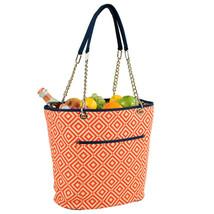 Picnic At Ascot Fashion Cooler Beach Camping Tote Diamond Orange - $40.00