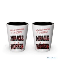 I'm Bookkeeper shot glass- Not a Miracle Worker -Bookkeeper Gifts (2) - $17.59
