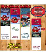 Little Einsteins 10 each Birthday Bookmarks Personalized Custom Made - $10.00