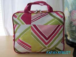 Clinique Geometric Nylon Cosmetic Case Bag w/ 2 Interior Zip Clear Compartments - $20.78