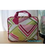 Clinique Geometric Nylon Cosmetic Case Bag w/ 2 Interior Zip Clear Compa... - $20.78