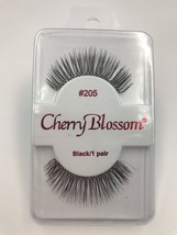 CHERRY BLOSSOM EYELASHES MODEL# 205  BLACK 1 PAIR PER EACH PK - $1.48+