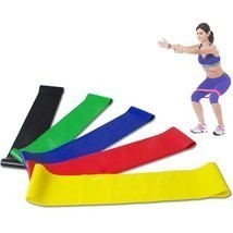 Resistance Band Loop Yoga Pilates Home GYM Fitness Exercise Workout Pull... - $6.96