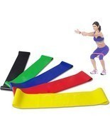 Resistance Band Loop Yoga Pilates Home GYM Fitness Exercise Workout Pull... - €5,96 EUR