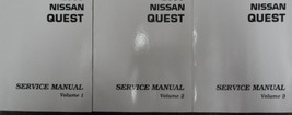 2001 Nissan Quest Service Shop Repair Manual 3 Volume Set FACTORY OEM BO... - $371.25