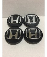4 Pcs Wheel Center Cap Honda Accord Civic Black Chrome Logo 69 MM / 2.75... - $19.99