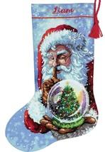 Dimensions Santas Snow Globe Christmas Eve Joy Cross Stitch Stocking Kit... - $39.95