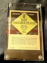 Willie Mays Baseball Trading Card # 482 AA19-BTC4007 Vintage Collectible image 2