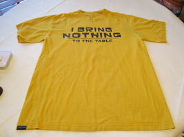 """Uomo Jansport T-Shirt L D'Oro Giallo """" I Bring Nothing To The EUC - $13.38"""