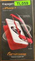 Spigen iPhone 7 Thin Fit 360 Full Cover Phone Case Cover Red - $9.99