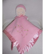 Carters Carter's Pink Doll Security Blanket Baby Lovey Hearts & Flowers ... - $8.99