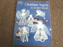 CHRISTMAS ANGELS IN CROCHET THREAD - 5 CROCHETED DESIGNS - A6 - $12.16
