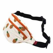LParkin Fanny Pack Pineapple Hip Bag Waist Bag Canvas Bum Belt Hip Pouch... - $15.39