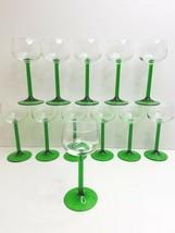"""12 Luminarc France 6 3/8"""" Emerald Green Retro Stemware VTG Wine Cordial ... - $65.21"""