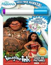 NEW 24pg Disney Moana Imagine Ink Magic Pictures Activity Book, Mess Free - $5.99