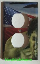 Hulk US Flag Air Force Light Switch Power Outlet Wall Cover Plate Home decor image 4