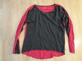 Women's Calvin Klein L Shirt Performance Quick Dry Pink & Grey Long Sleeve - $18.69
