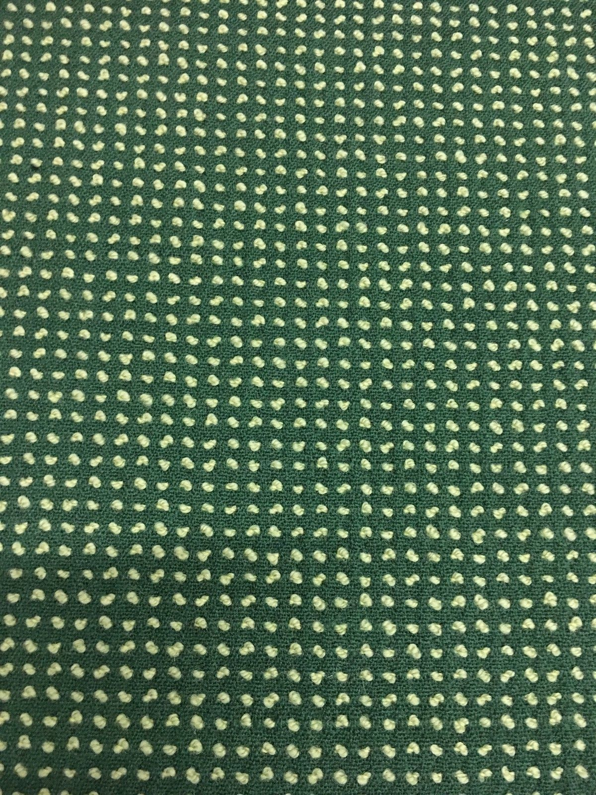 2 yds English Wool Upholstery Fabric Mid Century Reversible Green AM4
