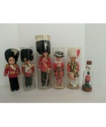Lot Of Six Vintage Royal British Guard Souvenir Dolls - $24.70
