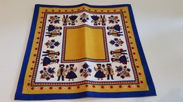 NEW Vtg KOLF Set of 6 NAPKINS Austrian Folk Art Cotton NWT - $22.00