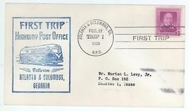 First Trip Highway Post Office Between Atlanta & Columbus 1950 Trip 1 HP... - $4.99