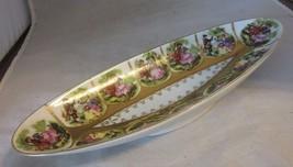 Vintage porcelain dish. Renaissance couples. Beehive mark - $22.99