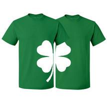 St Patrick's Couple Matching T-shirt Shamrock Clover Irish Lucky St Patricks Day - $15.99+