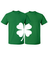 St Patrick's Couple Matching T-shirt Shamrock Clover Irish Lucky St Patr... - $21.23 CAD+