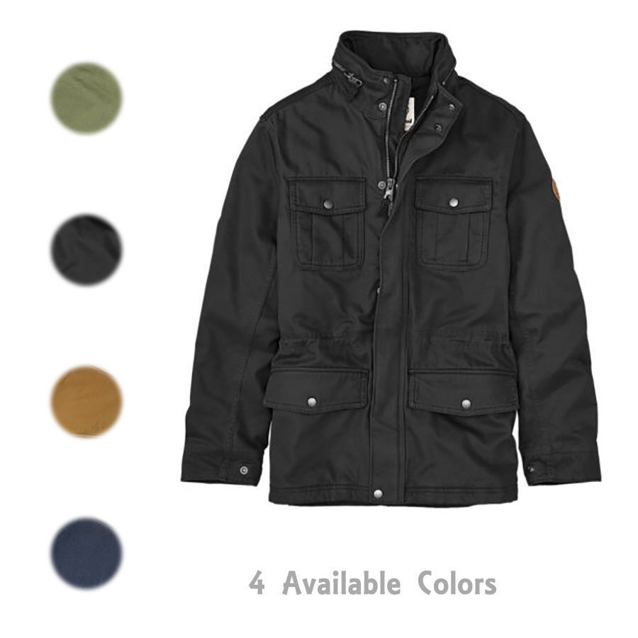 Timberland Men's Shelburne M65 Insulated Jacket W/ Packable Hood A1PM6