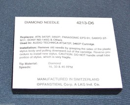 4213-D6 STYLUS NEEDLE for AKAI M502 M552 M60 M80 RS33 RS35 RS-33 ATN3472 image 2