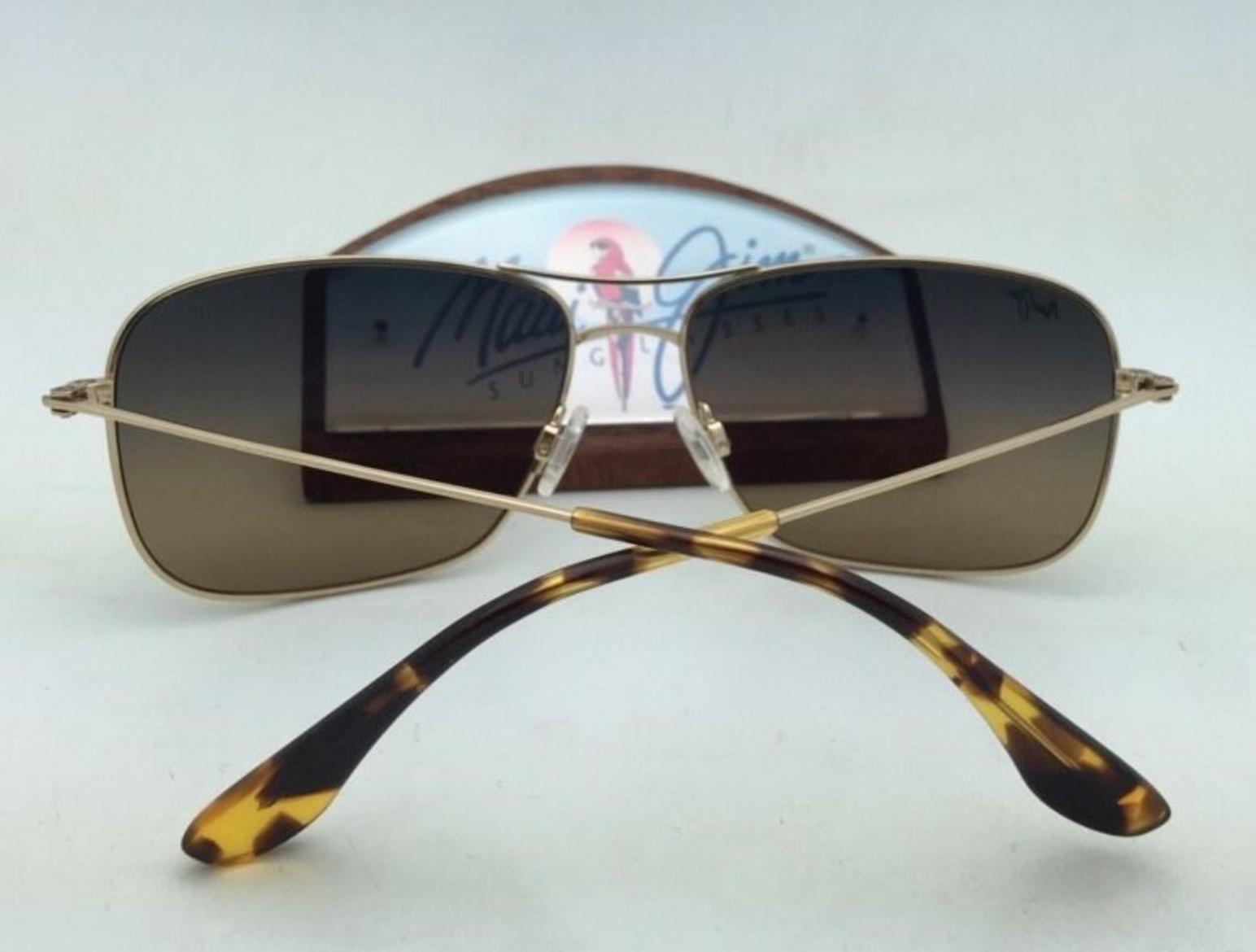 Polarizzati Maui Jim Occhiali da Sole Titanio Wiki Mj 246-16 Oro Telaio Marrone
