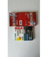 Vintage TDK D60  RCA Memorax Blank Audio Cassette Tapes  Sealed Lot Of 5 - $7.91