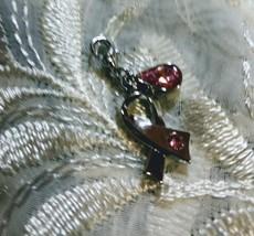 Breast Cancer Charm Silver Swarovrski Crystal - $10.95