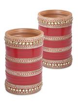 Lacquer Glass Wedding Bangles for women Strikin... - $116.00