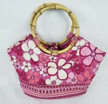 Vera Bradley Handbag Petal Power Pink Retired Pattern Bamboo Handle Satc... - $25.40