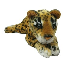 "17"" RAINFOREST CAFE LAYING REALISTIC LEOPARD CHEETAH STUFFED ANIMAL PLUS... - $45.45"