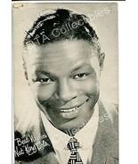 """Nat """"King"""" Cole-Portrait-1950-Arcade Card G"""