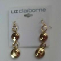 Liz Claiborne Gold-tone Dangle Hook Earrings - $19.50