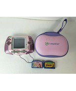 LeapFrog Leapster Learning Game System Purple/Pink 20200 w/ 2 Games & Ca... - $21.77
