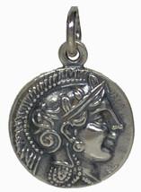 Goddess Athena Silver 925 Pendant - Owl Of Wisdom - $29.90
