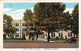 Lee Land Hotel Eastman Georgia 1941 linen postcard - $6.44